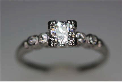 Jewelry Stores In Franklin TN Diamond Engagement Jewelry Nashville LP1906 Art Deco Platinum Diamond Ring VS2 clarity and J color. Sz 9,$4100. (certified GIA appraised at $7200.) Can be resized