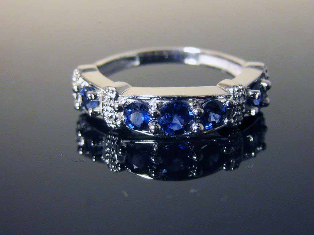 Estate Jewelry Nashville Estate Jewelry Franklin Jewelry stores Franklin LP1223. Estate Diamond and Sapphire 14K WG Band. Absolutely Stunning With .69 Carats of Sapphires In A Size 7. $750.00