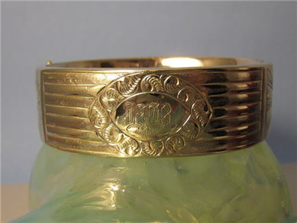 Victorian Jewelry Nashville TN LS7962 Big And Chunky, This Victorian Gold Filled Bracelet Makes a Statement $375.00