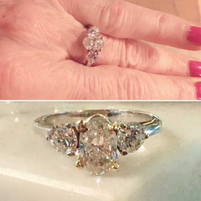 Vintage Engagement Ring Antique Rings Nashville L780 Fabulous Estate 3 Oval Diamond
